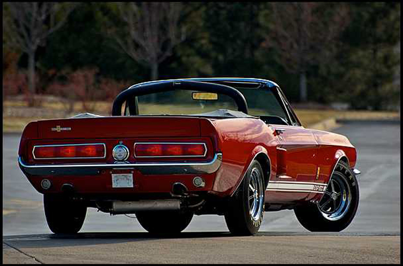 history 2 1967 Shelby GT 500 Convertible   Project Red Hot