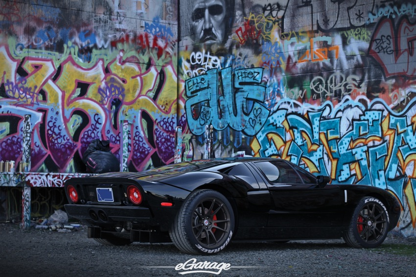 FGT rear 3 4 Graffiti1 Ford GT and HRE Wheels P44SC